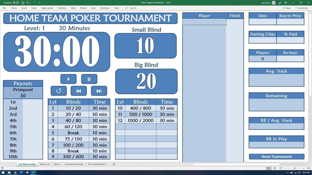Tourney - Excel Poker League Spreadsheet   Poker Chip Forum