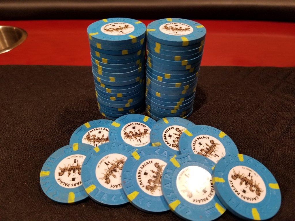 $1 Las Vegas Caesars Palace Smaller Inlay Version 2 Casino Chip