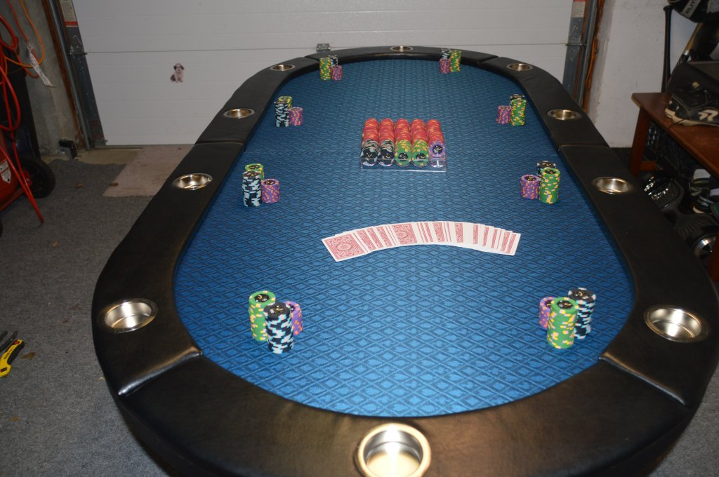 So $106 Shipped + $24 Speed Cloth (cheep Amazon Stuff) U003d $130 Foldable Poker  Table. Not Too Shabby!!!