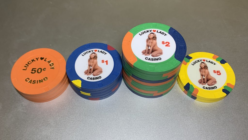 Sold Nsfw Lucky Lady Live Chips Poker Chip Forum
