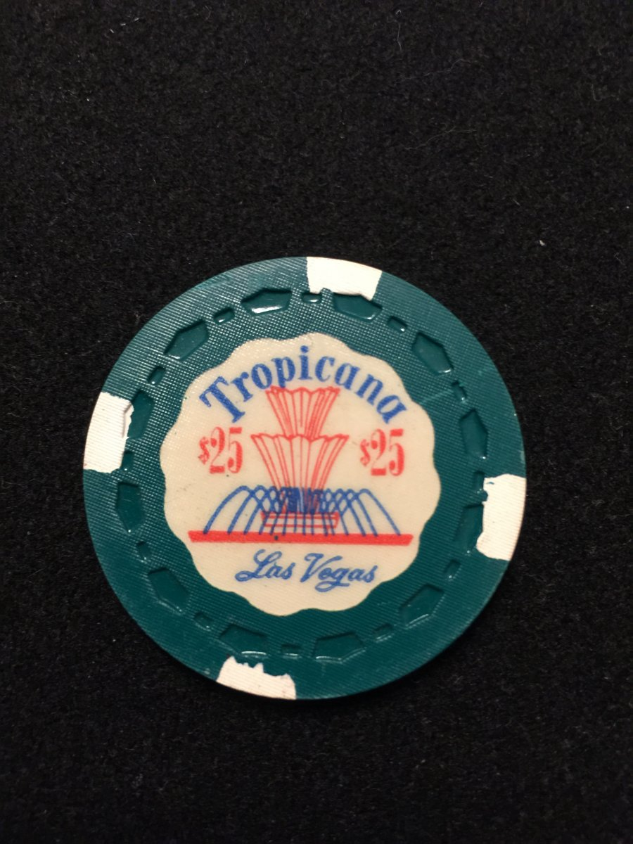 Mine - Tropicana $25 Green and white TR KING mint condition | Poker ...