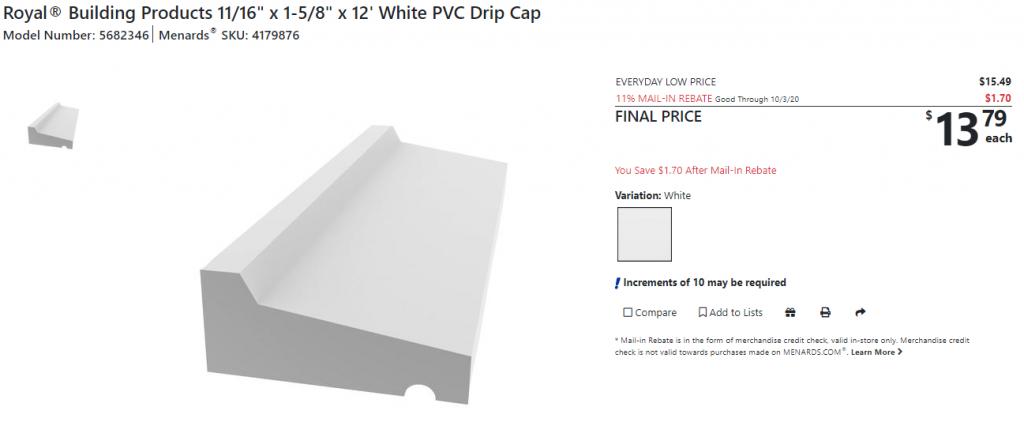 Menard's PVC Drip Cap.PNG