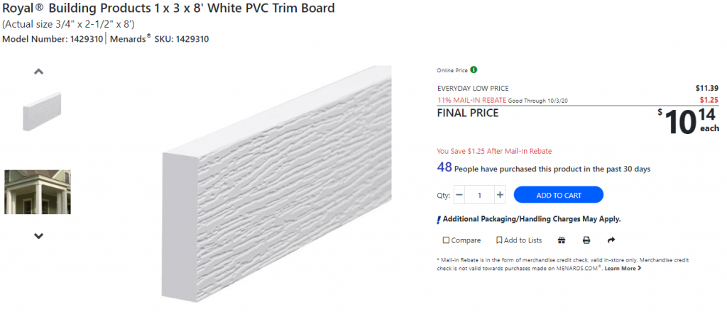 Menards PVC Trim Board.PNG