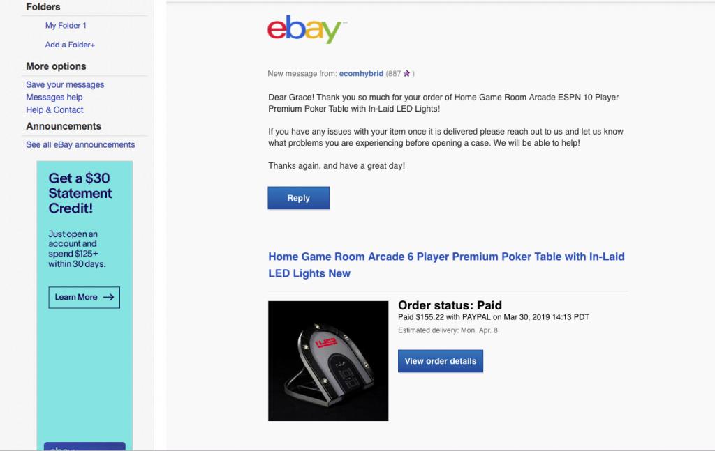 Not Mine Ebay Vendor Warning Espn Barrington Table Misleading Listing Resolved Poker Chip Forum