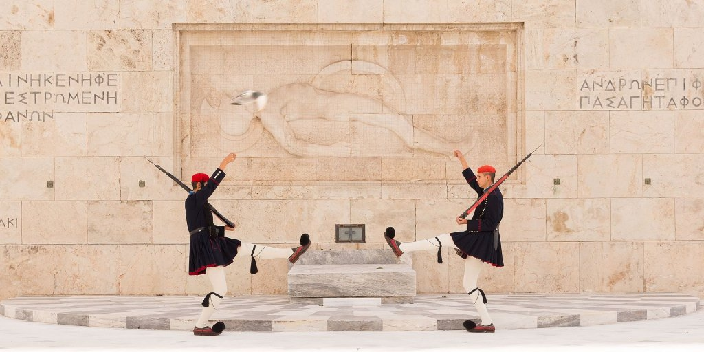 Two_Evzones_Tomb_Unknown_Soldier_Athens_Greece.jpg