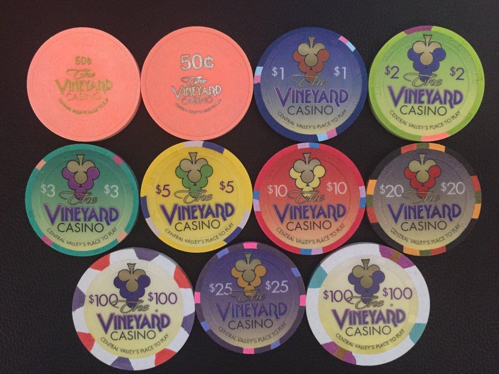 vineyard casino poker chips