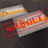 PCF Cut Cards (QTY-2) - Poker Size (SOLD OUT)