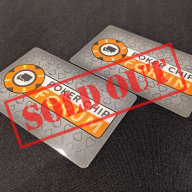 PCF Cut Cards (QTY-4) - Bridge Size (SOLD OUT)