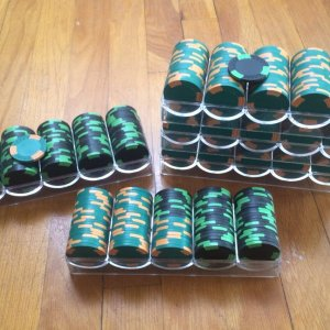 350 green and 150 black ASM roman mold blanks