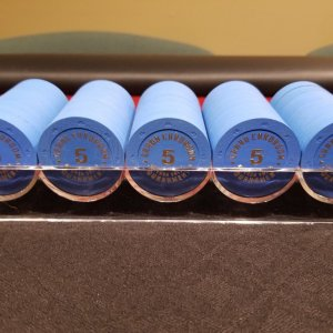 Rack of BCC Grand Cardroom (GCR) 5s
