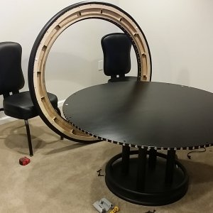 poker table - rail off