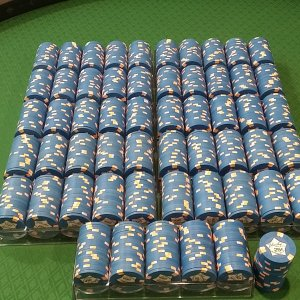 Paulson Blue Chip Casino 25 cent chips