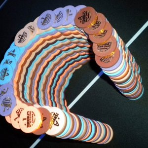 Paulson Terribles Casino Roulette chips ~ Horseshoe build