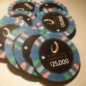 Horseshoe Casino Cleveland Chips - $25,000s