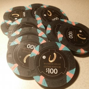 Horseshoe Casino Cleveland Chips - $100s