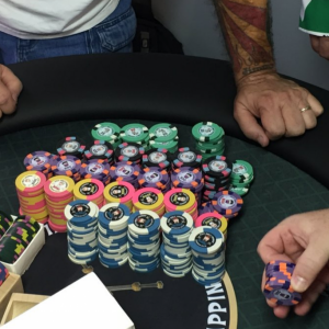 Getting the Exit Only chip ready for the Mile High Main Event - photo by Psypher1000