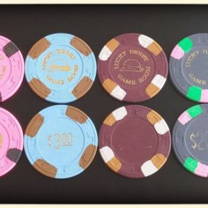 Paulson Lucky Derby Game Room (Citrus Heights, CA) - 8 chips sample set